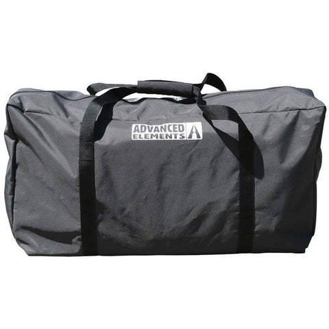 Black carry bag for the Advanced Elements Attack Whitewater 1 Person Inflatable Kayak