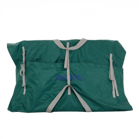Sea Eagle Canoe Carry Bag for TC16 - Green bag with tan straps and blue Sea Eagle logo on front.