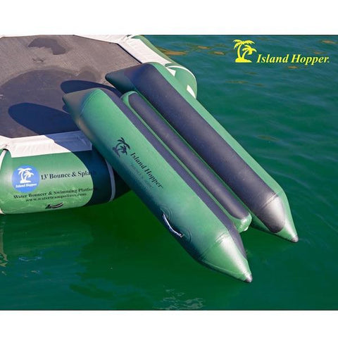 Island Hopper Bounce N Slide Water Bouncer Attachment. This natural green color slide is a very popular water bouncer attachment.