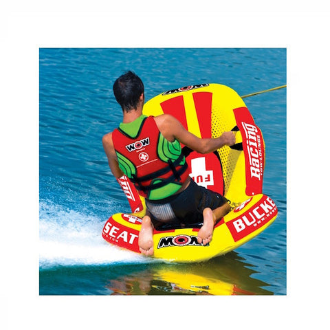 WOW Watersports Bucket Seat 1 Person Towable Boat Tube & Lounger tubing