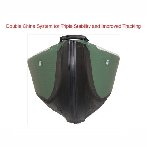 Sea Eagle Inflatable Canoe 16 close up of double chine system.