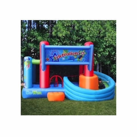 KidWise Celebration Bounce House, Slide, & Ball Pit