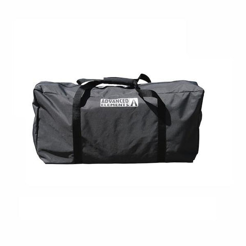 Advanced Elements AdvancedFrame Convertible Inflatable Kayak black carry bag.