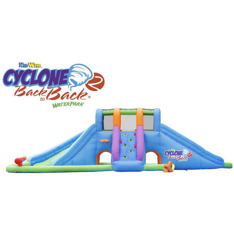 KidWise Cyclone 2 Back to Back Water Park and Lazy River - Bounce House -  KidWise - Splashy McFun Watersports