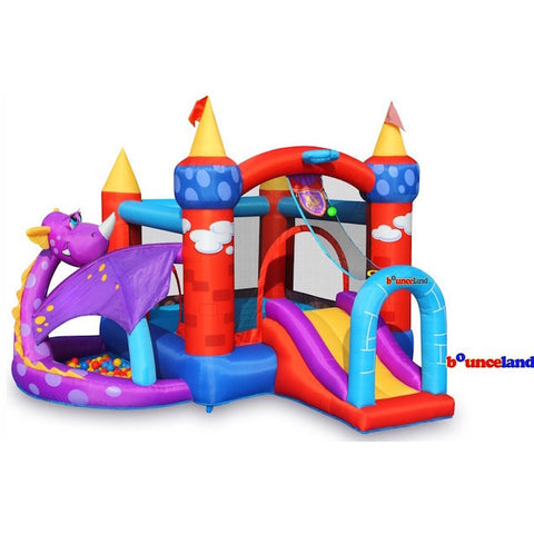 Bounceland Dragon Quest Bounce House with Ball Pit - Bounce House -  Bounceland - Splashy McFun Watersports