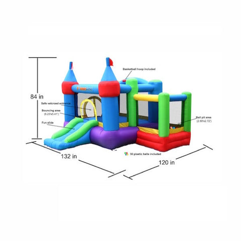 Bounceland Dream Castle Bounce House with Ball Pit - Bounce House -  Bounceland - Splashy McFun Watersports