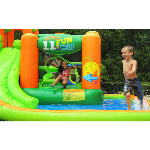 KidWise Endless Fun 11 in 1 Inflatable Bounce House and Water Slide