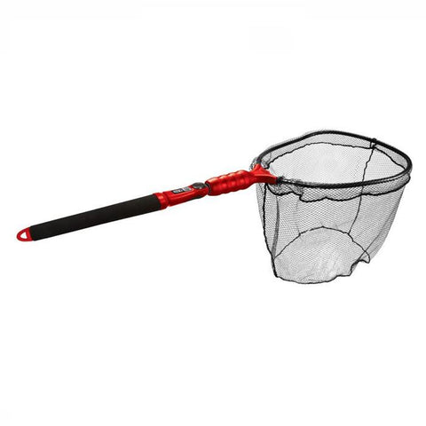 Sea Eagle Fishing Net - Black grib handle with red shaft and black net.