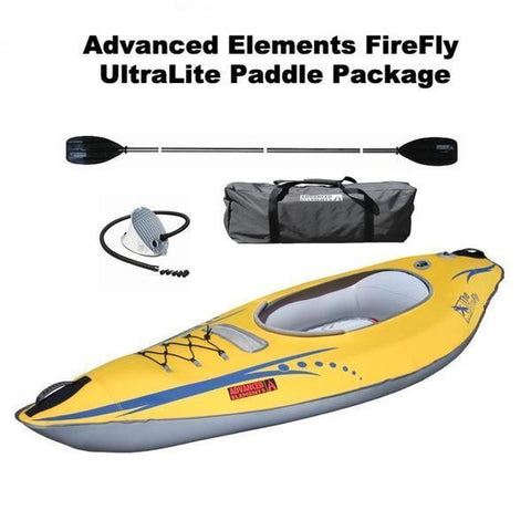 Advanced Elements Firefly Inflatable Kayak UltraLite Paddle Package