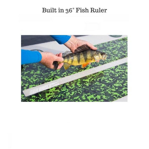 Sea Eagle FishSUP 126 Inflatable SUP fish ruler in use with a small fish.