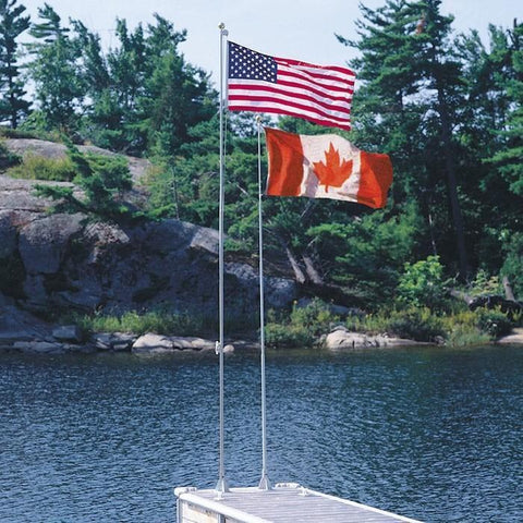 Dock Edge Flexi-Flag™ 7' Wall Mount Pole