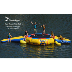 Island Hopper 13ft Gator Monster Water Bouncer Water Park