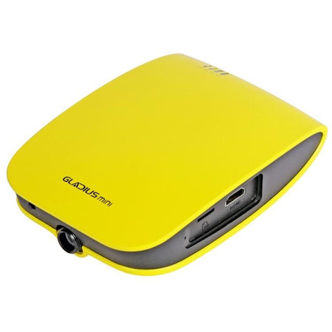 Home base of the Chasing Gladius Mini Underwater Drone.  Dynamic yellow top is bright and sleek with a grey highlights.