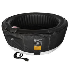 Aleko Round 6 Person Inflatable Hot Tub Spa with Zip Cover - Black