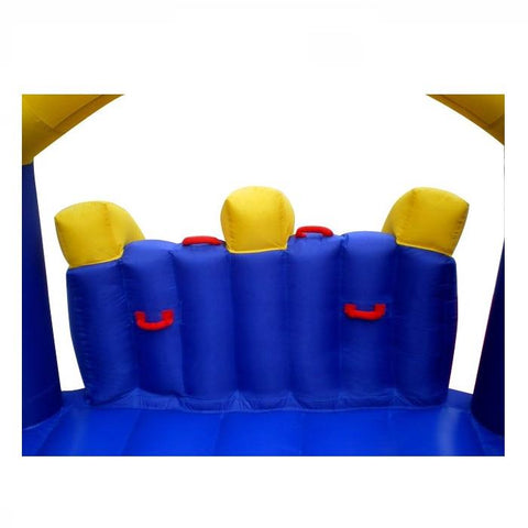 Island Hopper Racing Slide and Slam Bounce House Climbing Wall