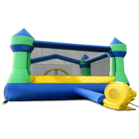 Island Hopper Jump Party Bounce House - back view of recreational Bounce House -  Island Hopper - Splashy McFun Watersports
