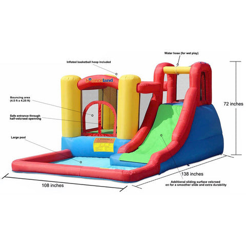 Bounceland Jump and Splash Adventure Bounce House - Bounce House -  Bounceland - Splashy McFun Watersports