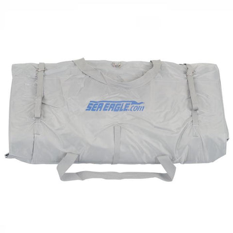 Sea Eagle Gray Carry Bag for FastTracks, Explorers, and SUP's with blue lettering.