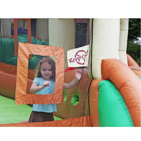 Young girl playing in the KidWise Clubhouse Climber Bounce House