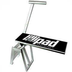 Lillipad Boat Diving Board - Surface Mount. Aluminum stairs, handle, and frame with a black diving board surface featuring the Lillipad Diving Board logo on top.