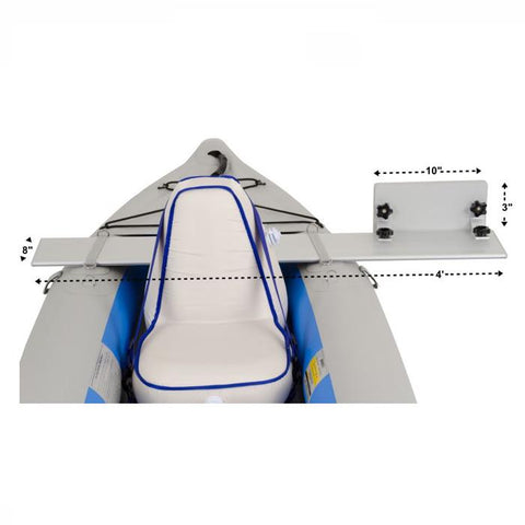 Sea Eagle Kayak Motormount front view with dimensions.