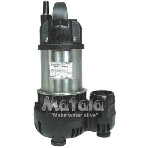 Geyser Max Flo Pump 1/2 HP by Matala
