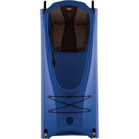 Point 65 Mercury Kayak middle section in blue.  The padded seat is black and located inside the shell.
