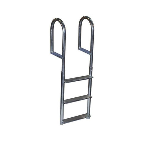 Dock Edge Aluminum Fixed Wide-Step Dock Ladder