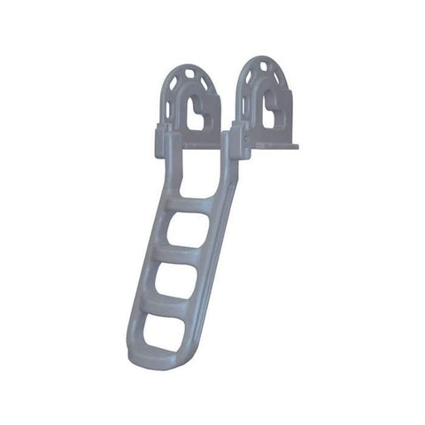 Dock Edge Polyethylene Stand Off Flip-Up Swim Ladder for Dock