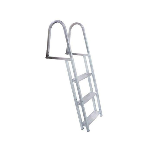 Dock Edge Kwik Release Aluminum Stand-Off Swim Ladder for Dock