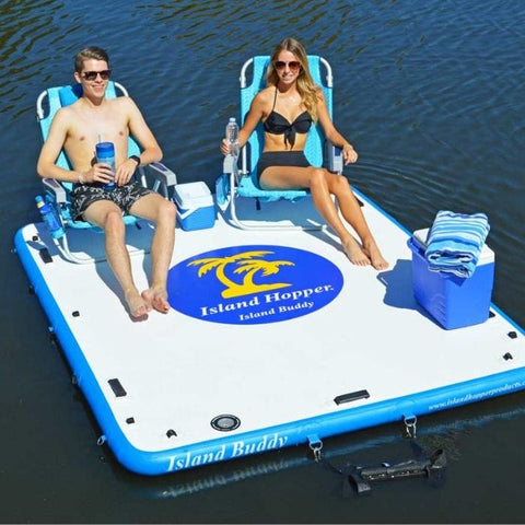 Island Hopper Island Buddy Inflatable Floating swim platform - Lake Swim Platform