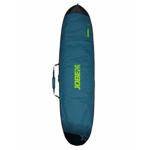 JOBE SUP Carry Bag 11.6 Dark teal green with light green Jobe Sup Carry Bag letters and the end of the top of the bag are dark hunter green.