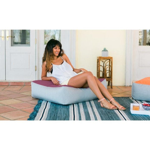 Dudley Outdoor Floor Cushion by Jaxx Bean Bags - Sunbrella