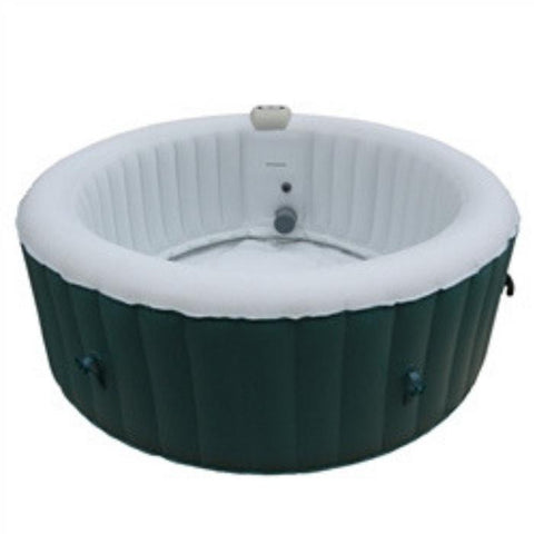 Aleko 210 Gallon 4 Person Round Inflatable Hot Tub Spa With Cover - Light Blue