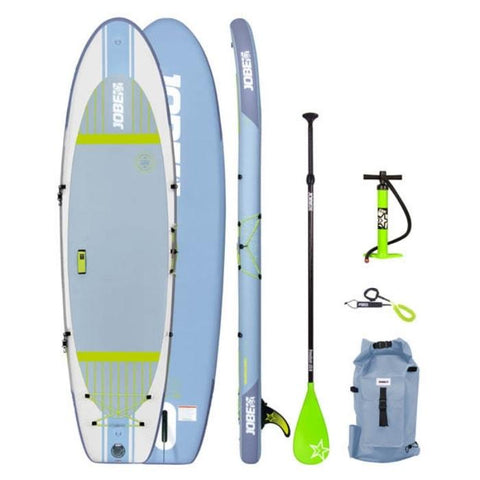 Jobe Lena 10.6 Yoga Inflatable Paddle Board Package with Paddle, Pump, Leash, and Bag