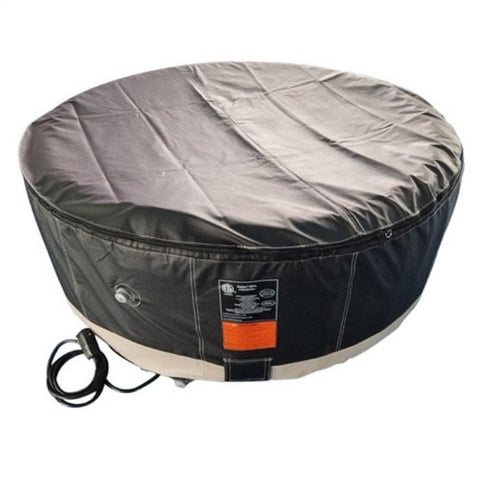 Aleko 210 Gallon 4 Person Round Inflatable Hot Tub Spa With Zip Cover - Black and White
