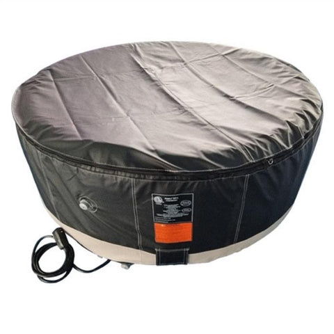 Aleko 265 Gallon 6 Person Round Inflatable Hot Tub Spa With Zip Cover - Black and White