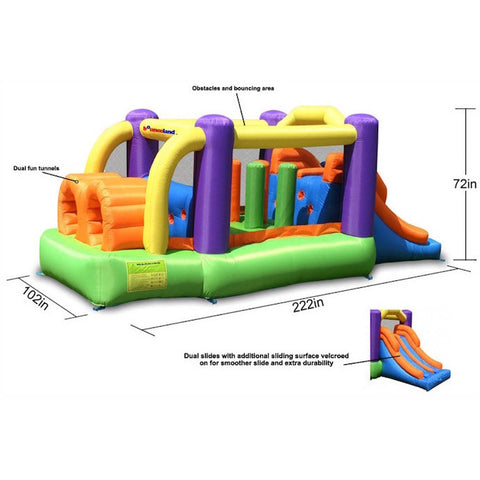 Bounceland Obstacle Pro Racer Bounce House - Bounce House -  Bounceland - Splashy McFun Watersports