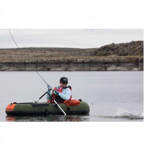 catching fish on the lake in the Sea Eagle PackFish7 Inflatable Fishing Boat