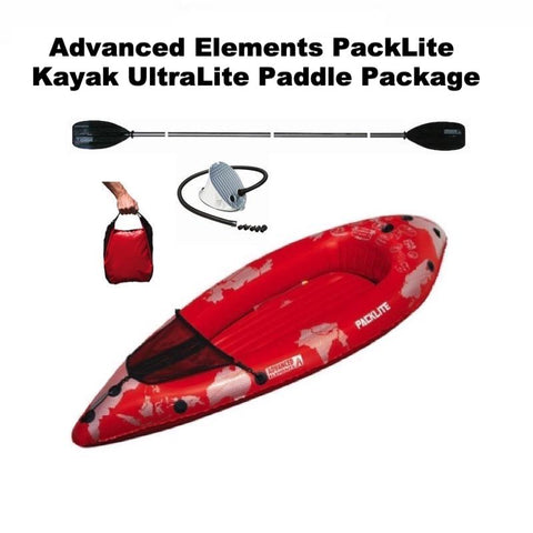 Advanced Elements PackLite Kayak UltraLite Paddle Package