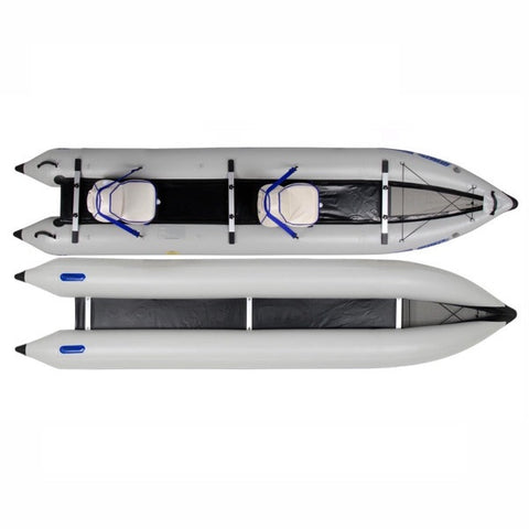 Sea Eagle PaddleSki 435ps Inflatable Kayak top view and under view.