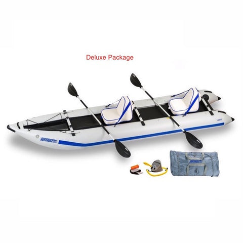 Sea Eagle PaddleSki 435ps Inflatable Catamaran Kayak Deluxe package