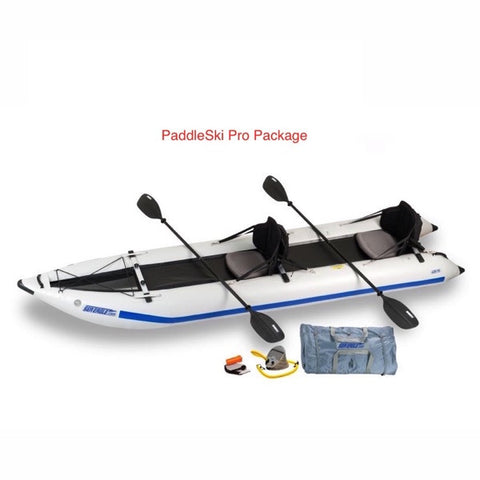 Sea Eagle PaddleSki 435ps Inflatable Catamaran Kayak pro package
