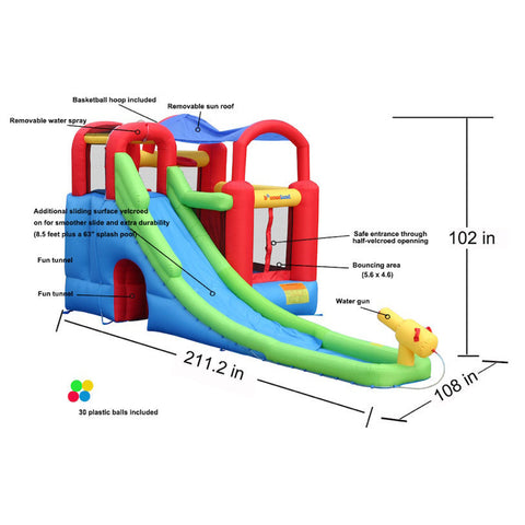 Bounceland Playstation Combo Bounce House and Water Slide