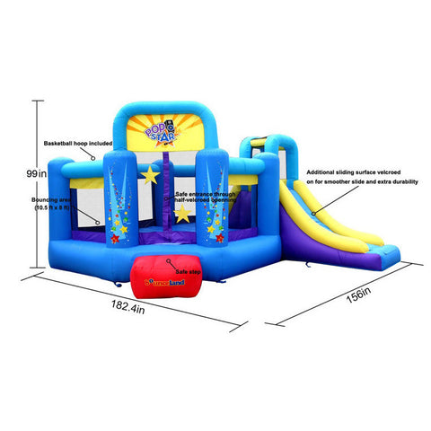 Bounceland Pop Star Bounce House with Slide