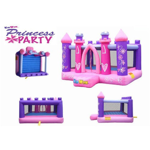 KidWise Princess Party Bounce House 4 views