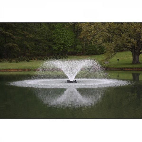 The aerating fountain spray after installing a Replacement Propeller and Disc for PowerHouse F500F and F1000F Aerating Fountain
