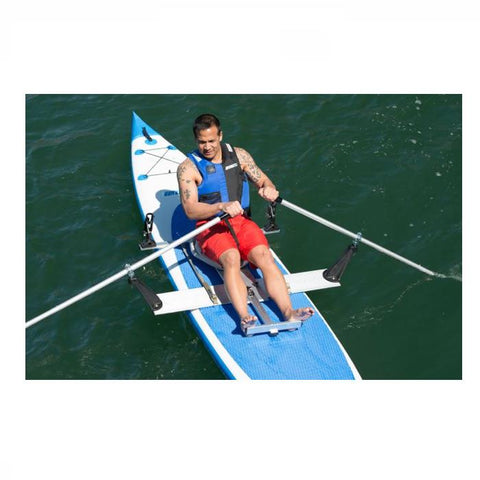 Sea Eagle Universal QuikRow™ Kit - Kayak Accessories -  Sea Eagle - Splashy McFun -  QuikRow in place on inflatable SUP