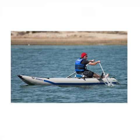Paddling a Sea Eagle Universal QuikRow™ Kit on a Sea Eagle Paddleski