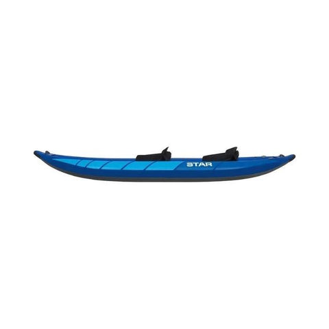 STAR Raven II Inflatable Kayak - Blue Version side view.